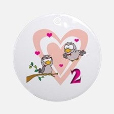 Two Turtle Doves Ornament (Round)