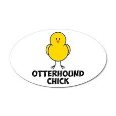 Otterhound Chick 22x14 Oval Wall Peel