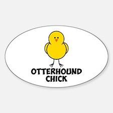 Otterhound Chick Sticker (Oval)