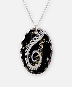 designer Musical notes Necklace