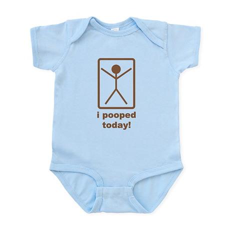 I Pooped Today Infant Bodysuit