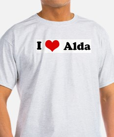 I Love Alda Ash Grey T-Shirt