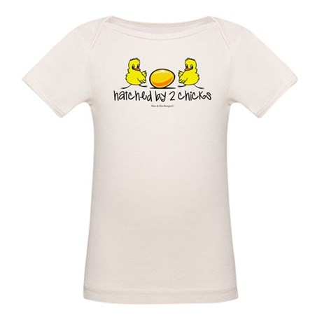 Hatched by 2 chicks. Organic Baby T-Shirt
