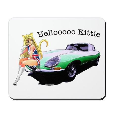 E-type Helloooo Kittie Mousepad