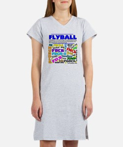 Canine Flyball Women's Nightshirt