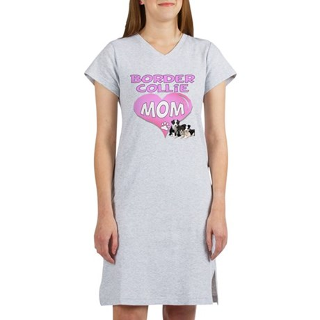 Border Collie Mom-3 Women's Nightshirt