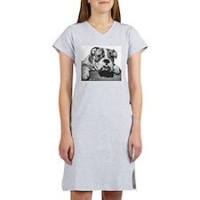 Bulldog Head Vintage-1 Women's Nightshirt