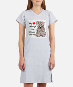 My Heart Shar Pei Women's Nightshirt