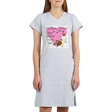 Jack Russell Terrier Pawprint Women's Nightshirt