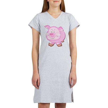 Pink Attitude Pig Women's Nightshirt