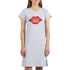 Red Lips Kiss Women's Nightshirt