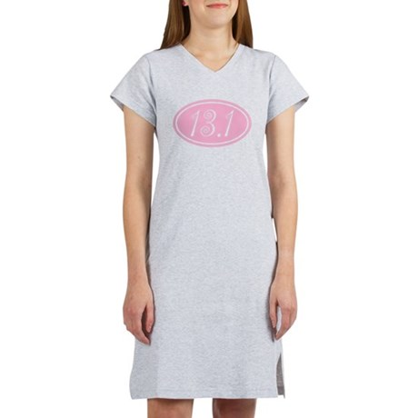 Pink 13.1 Half Marathon Women's Nightshirt