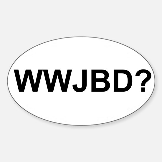 WWJBD Sticker (Oval 10 pk)