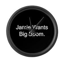 Jamie Wants Big Boom Large Wall Clock