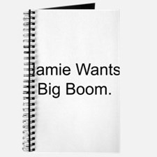Jamie Wants Big Boom Journal