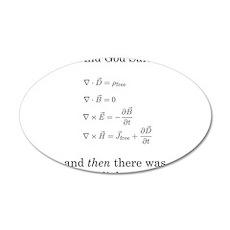 Maxwell's Equations 22x14 Oval Wall Peel