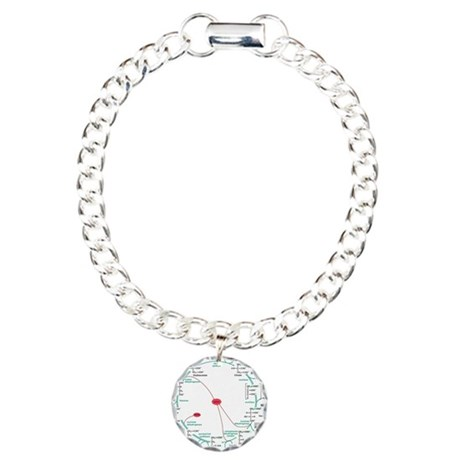Kreb's Cycle Charm Bracelet, One Charm