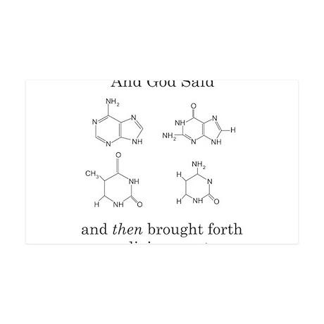 God Created DNA 38.5 x 24.5 Wall Peel
