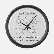 God Created DNA Large Wall Clock