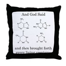 God Created DNA Throw Pillow