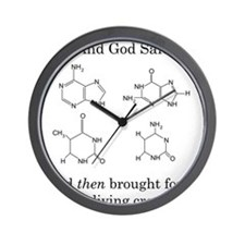 God Created DNA Wall Clock