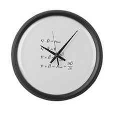Maxwell's Equations Large Wall Clock
