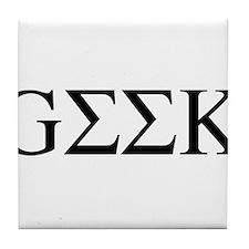 Greek Geek Tile Coaster