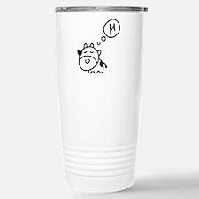 Cow says 'mu' Travel Mug