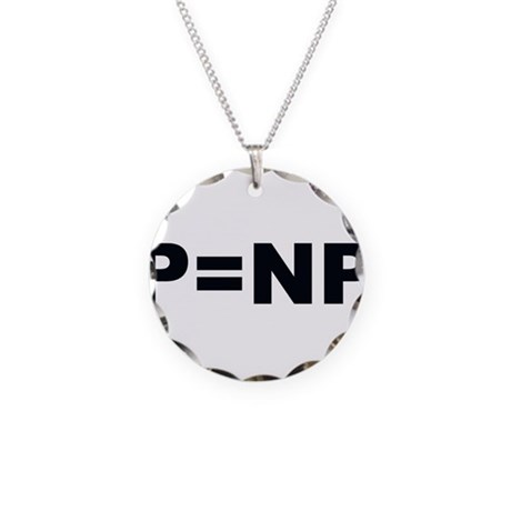 P=NP Necklace Circle Charm