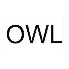 OWL 38.5 x 24.5 Wall Peel