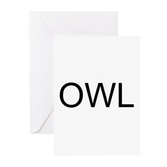 OWL Greeting Cards (Pk of 20)