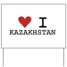 Heart I Kazakhstan Yard Sign