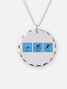 Swim Bike Run Necklace