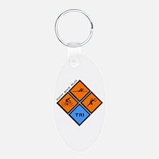 Tri Diamond Keychains