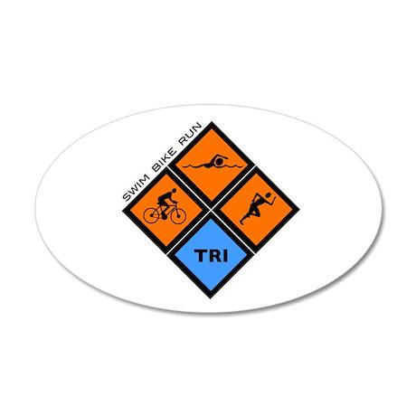 Tri Diamond 22x14 Oval Wall Peel