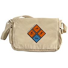 Tri Diamond Messenger Bag