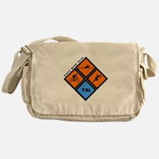 Tri Diamond Messenger Bag