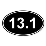 Half Marathon 13.1 Sticker (Oval 10 pk)