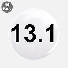 """Half Marathon 13.1 3.5"""" Button (10 pack)"""