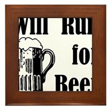 Will Run for Beer Framed Tile