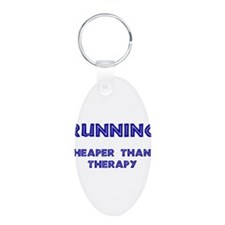 Running: Cheaper than therapy Keychains