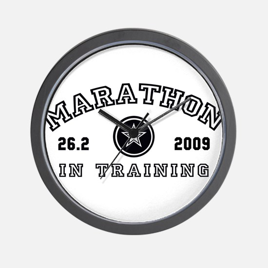 Marathon In Training Wall Clock