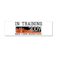 New York Marathon - In Traini Car Magnet 10 x 3