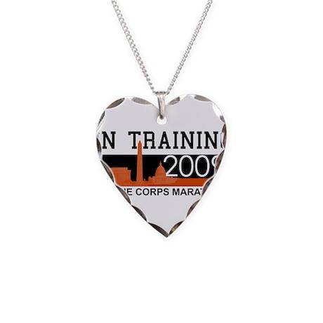 Marine Corps Marathon - In Tr Necklace Heart Charm