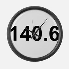 140.6 (Ironman Triathlon) Large Wall Clock