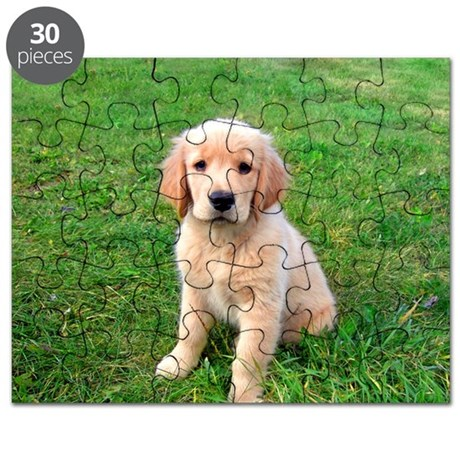 Puppy in the Grass Puzzle