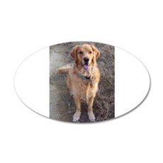 Golden Retriever 22x14 Oval Wall Peel