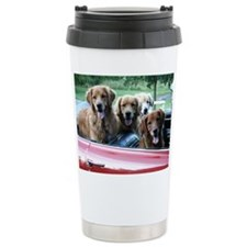 Golden Retriever Summer Drive Travel Mug