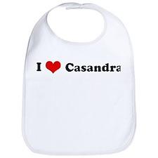 I Love Casandra Bib
