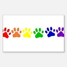 Rainbow Paws Decal